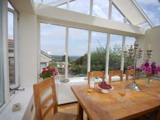 The Kitchen dining area with views of Corfe Castle and the village church.