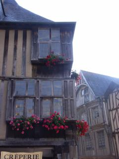 one of the timbered houses in the historic centre