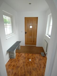 Spacious entrance hall for boots and beachwear
