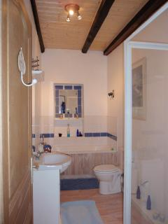 Well equipped family bathroom