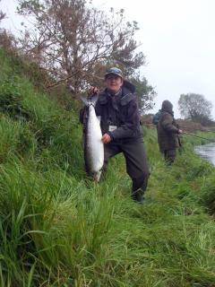 14.5 lb Salmon caught on river Moy