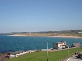The view from window, towards east strand beach.