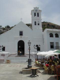 The church in Frigiliana