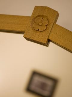 Oak dresser detail