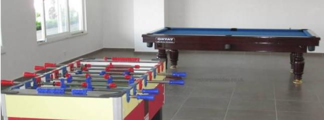 Indoor games include pool table , table tennis, outside tennis court, plus a small on site shop