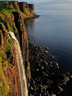 Kilt rock waterfall 2 minutes from the cottage