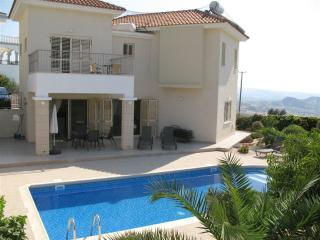 Rear view of villa - secluded, safe and private garden and pool area.