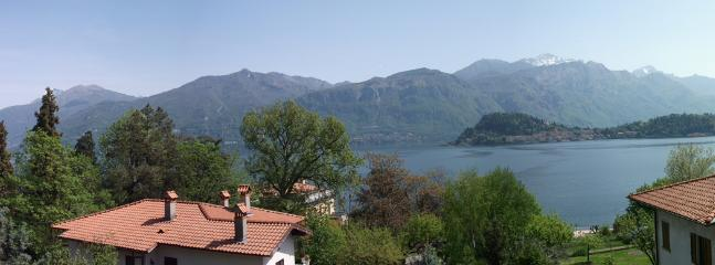 Panoramic view over the lake from the balcony