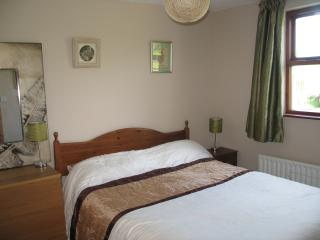 The double bedroom downstairs. Thermal blackout blinds in every bedroom.
