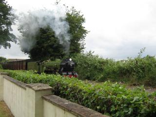 Very peaceful location miniature train runs to rear, Dymchurch