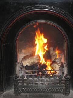 The cosy open fire......