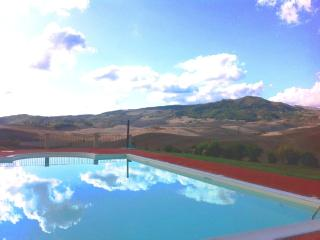 Pool with a view!  Pool with its view of ancient Montecatini Val di Cecina