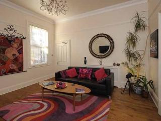 "Sittingroom with 42"" HDTV and blu-ray/DVD/USB media player"
