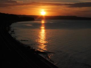 Sunrise from the terrace towards Exmouth