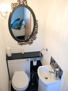 Upstairs ensuite toilet