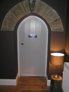 Original front door to School Cottage, now an internal door