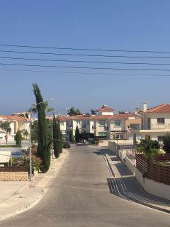 View of villas opposite the apartment