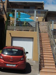 Parking on the doorstep or should I say door-steps!