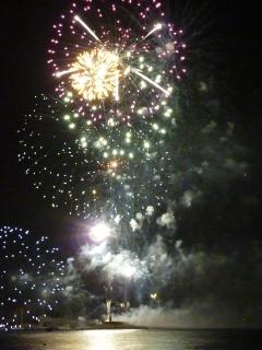 Firework display for a Javea fiesta in the port