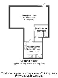 Modular Studio (Can be attached to listing 125807) Floorplan