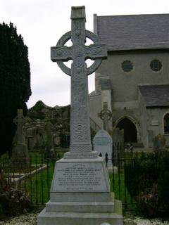 Celtic Cross at Duiske Abbey, Graiguenamanagh