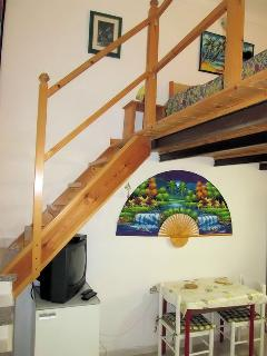 Stairs to upper level