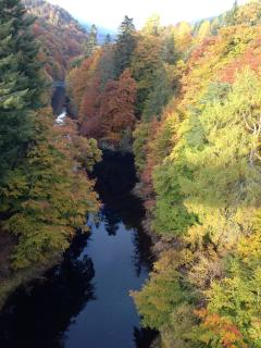 View in Autumn from the Garry bridge 8 minutes away