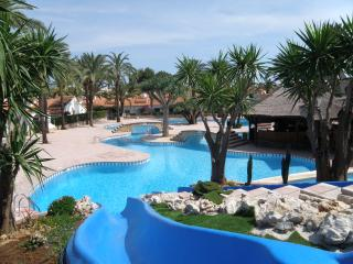 Large pool with water slides free to use for El Palmer owners and guests only.