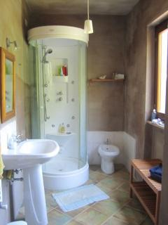 One of the shower rooms