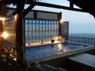Relax and watch the Sun set from the Gezebo/Plunge pool