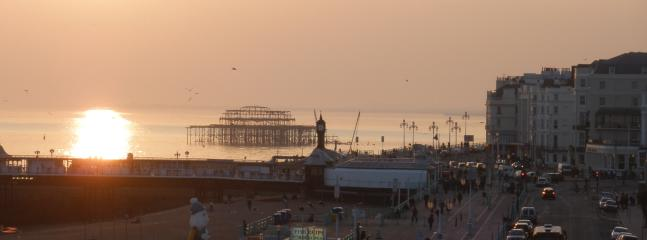The pier at the bottom of the road - a 5 min walk