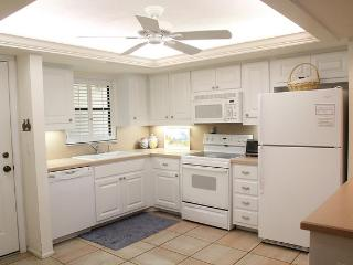 Completely equipped kitchen with lots of extras like crock pot, pizza pan, pool glasses & pasta pot