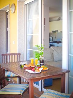 Villa porch ideal for balmy breakfast