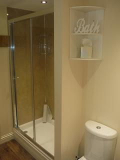 Large shower enclosure: big enough for two!