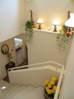 Staircase to lower floor
