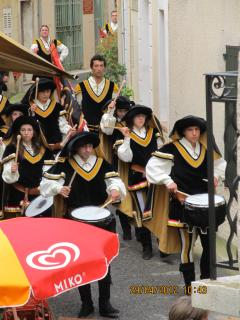 Genoese Market Band on annual visit to village - 1 of many festivals