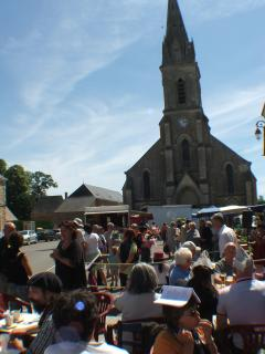 The village square on market day