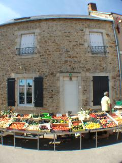 Market day in St Symphorien.