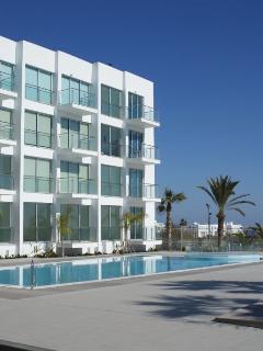 Coralli Spa pool area (end apartment on 3rd floor)