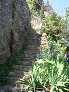Escalier menant au gîte