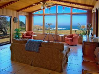 3BR home w/jet tub; deck & ocean views; walk to beach, Fort Bragg