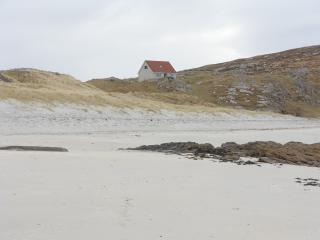 View of cottage from the beach