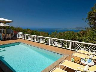 Hummingbird: Amazing Views! Breezy Hillside Villa!, Saint-John