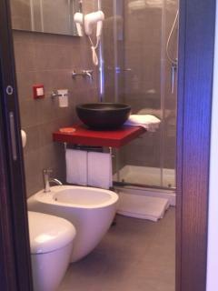 The very nice first bathroom...wich includes the 'bidet'.