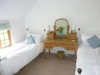 The bright second bedroom