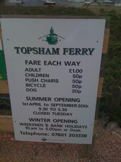 Take the ferry across the river at topsham and walk along tow path to great pub