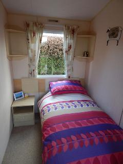 Two single bedrooms with 3ft single beds, bedside cabinets and wardrobes
