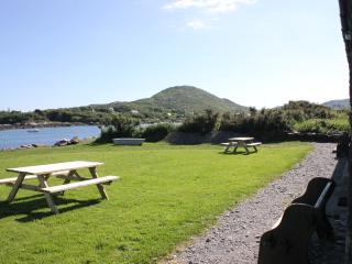 From cottage with picnic area and harbour