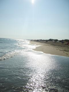 our nearest beach at Serignan - 5 minutes away by car
