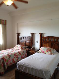 Guest Room 2 twins hotel can convert to King. Has 42' flat panel TV with cable